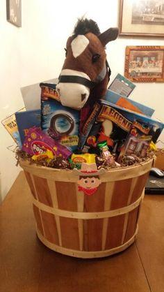 Cowboy easter basket holidays gift ideas pinterest western easter basket negle Choice Image