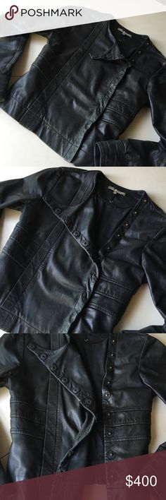 💥1-day Sale💥Sienna Miller Leather Moto Jacket✨🔥 🔥🔥Black distressed leather Moto jacket Twenty8Twelve by Sienna Miller 🔥Size 6 US/ 10 GB/ 38 France. 🔥Amazingly soft 100% sheep leather 🔥 Button snap detailing 🔥   🔥Light wear adds to the bad ass chic of this luxurious jacket. 🔥$650 jacket originally, so no offers🚫1-day Sale Price ends Monday! 💥 Twenty8Twelve Jackets & Coats