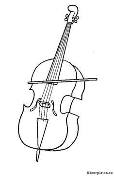 Muziekinstrumenten kleurplaat