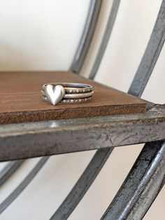 Sterling Silver Heartbeat ring.