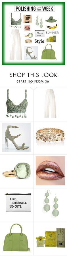 """""""like, literally so cute...."""" by giagiagia ❤ liked on Polyvore featuring Rosie Assoulin, Jacquemus, Lanvin, Pomellato, Crispin, Hadaki, Versace and Andy Warhol"""