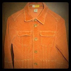 Anthropologie Tulle Rust Orange Corduroy Jacket S Anthropologie Tulle Rust Orange Brown Corduroy Cotton Denim Jacket Small Anthropologie Jackets & Coats