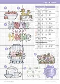 Home and kitchen motifs free cross stitch patterns