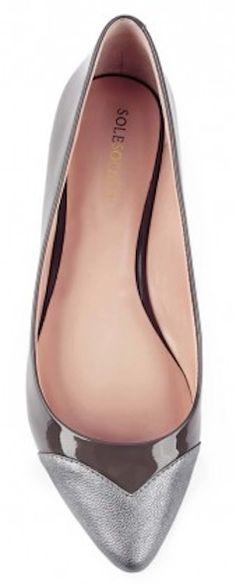 #grey cap toe flats http://rstyle.me/n/g9aahr9te