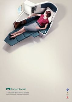 Cathay Pacific: The New Business Class #PrintAd | Airline Advertising |