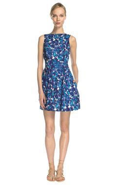 Shop Water Color Flower Crisscross Back Dress by Thakoon Addition Now Available on Moda Operandi