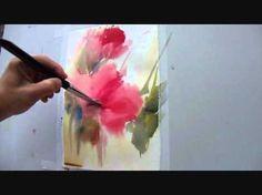 www.fcembranelli.com - Floral watercolor demonstration by the Brazilian watercolorist Fábio Cembranelli.