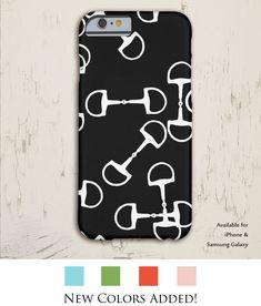 classic black and white horse bit equestrian phone case