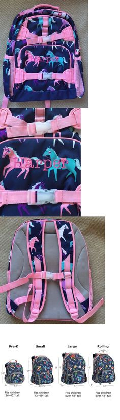 Backpacks and Bags 57882: Harper Mono Pottery Barn Kids Navy Happy Horses Large Backpack Sold Out -> BUY IT NOW ONLY: $39.5 on eBay!