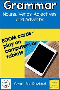 Interactive game to review basic grammar for upper elementary (and yes, even middle school) students! BOOM cards are engaging, self-paced, self-grading, and super-fun! Students get immediate feedback and you see their results. This is a great tool for teachers and students alike!