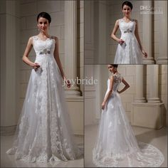 Wholesale Real Custom Photos Tulle Split Empire Waist woman arabic Wedding Dress 2013, Free shipping, $358.4-380.8/Piece   DHgate