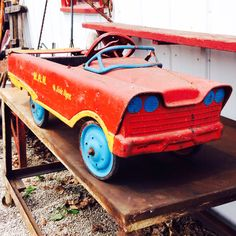 Download the FLEATIQUE APP on the App Store ----- Here is a nice old Vintage Pedal Car Toy find ! ----- pedal car cars antique antiques toys vintage decor mall store shop fleamarket flea market Rusty gold american pickers pawnstars pawn stars restoration junk gypsy gypsies