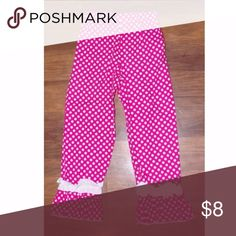 Girls Southern Tots Boutique Pants Size 6 Girls Southern Tots Boutique Pants Cotton. Pink with white polka dots-ruffle bottoms  It is in nice condition. Smoke Free Home Southern Tots Bottoms Casual