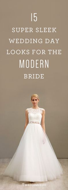 @weddingwire's favorite fashion-forward #weddingdress styles for #modern brides, from pants to crop tops!