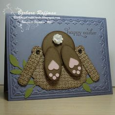 Barbara's Craft Circle: Basket Diving Bunny - Punch Art Easter Card