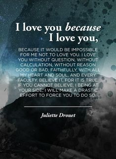 I Love You Because, I Love You ....