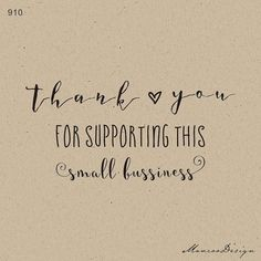 Thank You For Supporting This Small Business Stamp  por mancoostamp