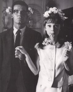James Garner and Audrey Hepburn.
