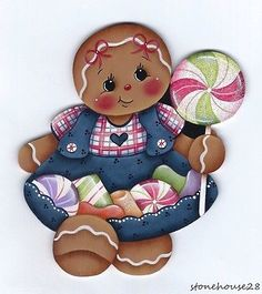 HP-GINGERBREAD-Girl-with-Candies-FRIDGE-MAGNET