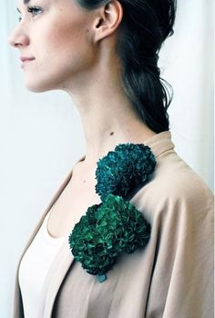 The Swedish artist uses paper, paint, lacquer and sterling silver to create her jewelry garden - See more at: http://www.dailyartmuse.com/2014/07/16/hanna-liljenbergs-jewelry-garden/#sthash.vQt4txA7.dpuf