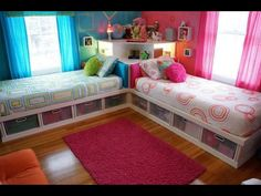 Love this kids bedroom idea.