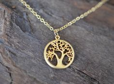 Naiona Jewelry tree of life gold-filled necklace  www.naiona.de