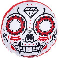 Halloween Shopaholic: Sugar Skull Pillows for Day of the Dead Decor- Sourpuss