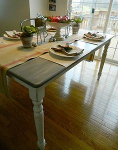 Idea for painting my tired old kitchen table