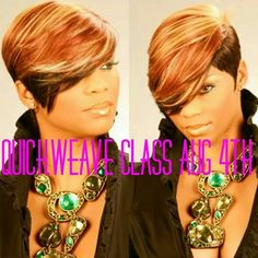 The Nene Leakes style & color.love it on this young lady. 27 Piece Hairstyles, Curly Pixie Hairstyles, Quick Weave Hairstyles, Short Black Hairstyles, Creative Hairstyles, Short Hair Cuts For Women, Short Hair Styles, Short Cuts, Quick Weave Styles