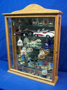 Wall Curio Cabinets With Mirror Back Adjustable Glass Shelves And Glass  Side Panels To Shed Maximum