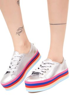 f802abf4814 Rainbow Sole Lace-Up Shoes