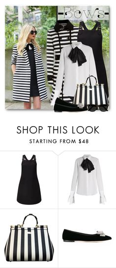 """Put a Bow on It!"" by brendariley-1 ❤ liked on Polyvore featuring Miss Selfridge, Isa Arfen, Dolce&Gabbana, Giuseppe Zanotti, Ray-Ban and bows"