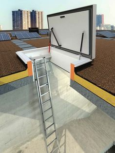 roof hatch with ladder and handrail on hatch cover roof modern roof hatches