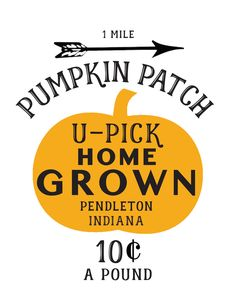 FREE Pumpkin Patch Printable (and the city & state are editable)!