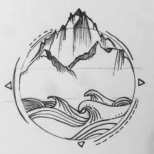 Image result for ocean and mountain logo Browse through over 7,500+ high quality unique tattoo designs from the world's best tattoo artists!