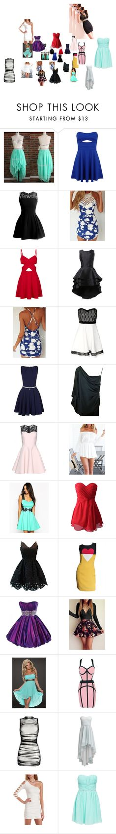 """""""Dresses"""" by love-sexting ❤ liked on Polyvore featuring Miss Selfridge, Topshop, Closet, Chanel, Chicnova Fashion, Lipsy, Moschino, Maggie Sottero, Dolce&Gabbana and Swing"""