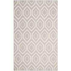 Safavieh Hand Woven Moroccan Reversible Dhurrie Grey Geometric Wool Rug (8u0027  X 10