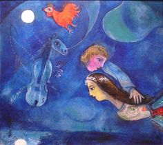 Marc Chagall horse cellist