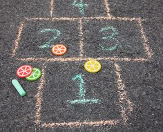 Citrus Hopscotch Markers #kids #craft