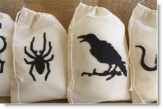 Giveaway; winner! 15 Halloween muslin drawstring bags with felt appliqués · Felting | CraftGossip.com