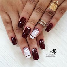 I want that ring! Gorgeous Nails, Pretty Nails, Hair And Nails, My Nails, Cute Nail Designs, Cookies Et Biscuits, White Nails, Nail Tech, Wedding Nails