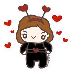 Avengers Valentine (1 of 11): Love Bug Black Widow