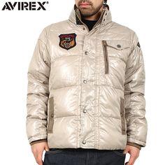 AVIREX アビレックス PADDING T.A.F.中綿ジャケット IVORY