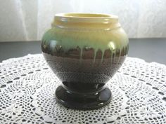 Collectible Aust Pottery Bake Well Newtone Drip Glaze Vase   eBay