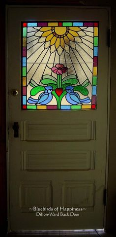 Reminds me of the back door of the house I grew up in. Loved our stained glass window! Still have it! Waiting for a place to put it.