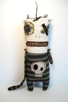 Handmade Plush Monster Monster by JunkerJane, $85.00