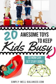 The Best Gifts for Active Kids An amazing list of awesome toys for busy toddlers and active kids. Unique gift ideas for birthdays and Christmas for all ages. If you are looking for cool toys for girls and boys then you need to check out this list! Toddler Boy Toys, Kids Toys For Boys, Toddler Girl Gifts, Cool Toys For Girls, Best Kids Toys, Unique Toys For Toddlers, Cool Kids Toys, Outside Toys For Kids, Outdoor Toys For Boys