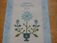 Mother's day cross stich card