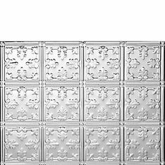 0605 MINI-FLEUR-DE-LIS BACKSPLASH - Mill Finish Aluminum by Decorative Ceiling Tiles Inc.. $6.50. Our Mill Finish Aluminum is the most popular finish because of its affordable pricing, light wight and the fact that the tiles will not rust. Although they will not rust, they will oxidize and they have to be primed and painted from the face side. These tiles are about half as heavy as our Tin Plated Steel Tiles and are also easier to work with as Aluminum is a softe...