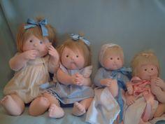 muñecas  de trapos,   hermosos  bebes!